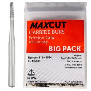 Cross Cut Straight Dome FG Carbide Burs MaXcut