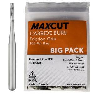 Straight Fissure FG Carbide Burs MaXcut