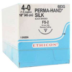 Perma Hand Silk Black Braided Sutures