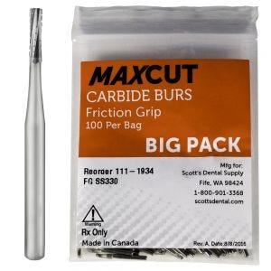 Cross Cut Straight Fissure FG Carbide Burs MaXcut