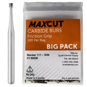 Inverted Cone FG Carbide Burs MaXcut