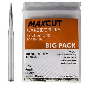 Plain Taper Fissure FG Carbide Burs MaXcut