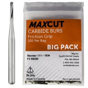 Straight Dome FG Carbide Burs MaXcut