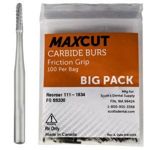 Cross Cut Straight Dome FG Carbide Burs MaXcut