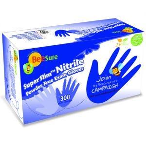 BeeSure SuperSlim Nitrile PF Gloves