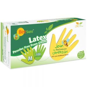 BeeSure Latex PF Gloves