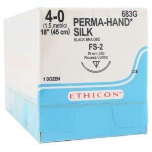 Perma Hand Silk Black Braided Sutures