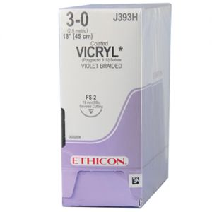 Coated Vicryl Violet Braided Sutures