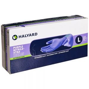Purple Nitrile PF Gloves