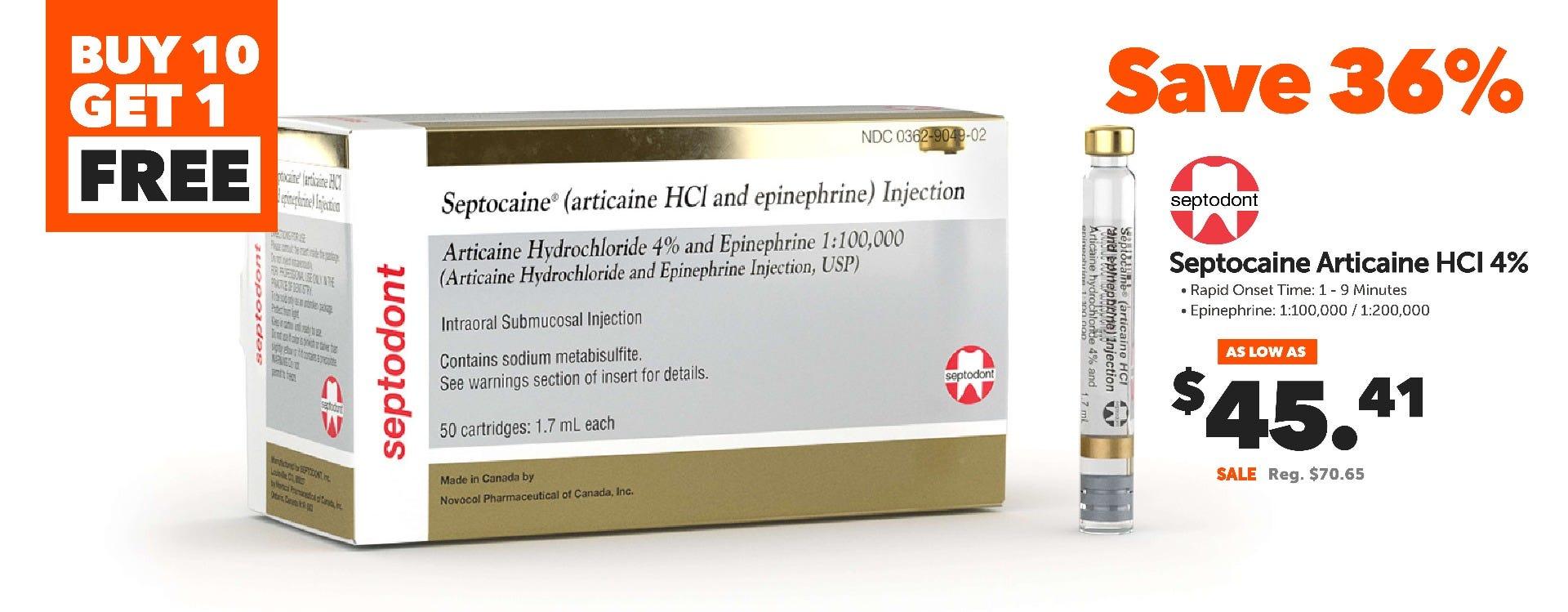 Septodont Septocaine Articaine 4%